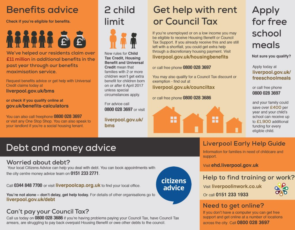 Come Together advice leaflet page 1