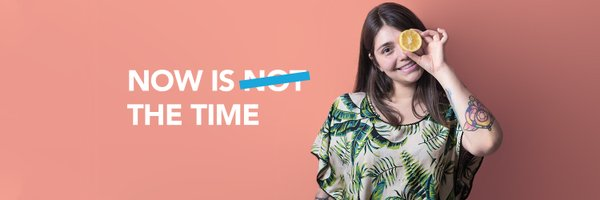 banner image that says now is the time