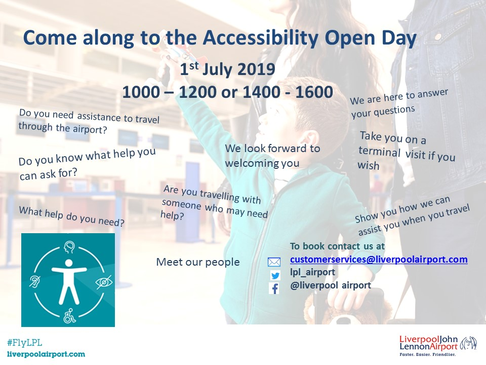 Accessible Open Day 1 July 2019 flyer