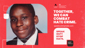 Speak out stop hate flyer