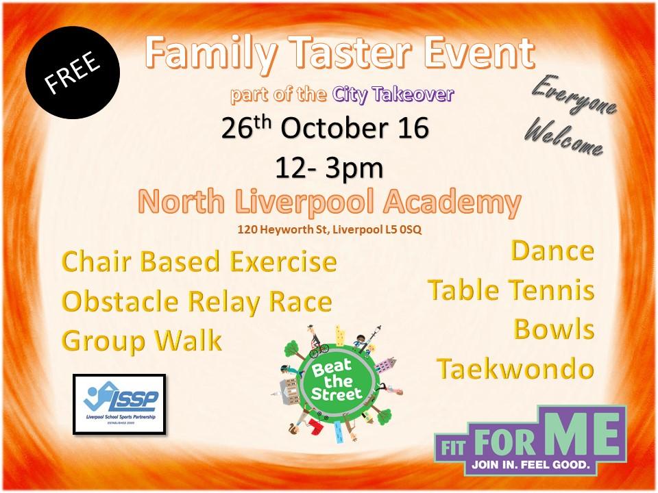 Family Taster Event