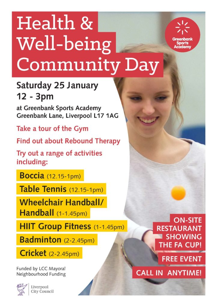 Health and Wellbeing Community Day Liverpool Poster
