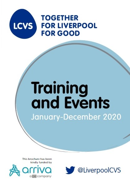 Liverpool charity and voluntary services training and events 2020 brochure