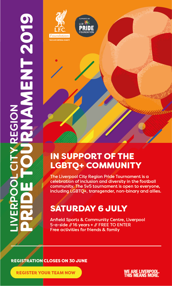 LFC Foundation Pride Tournament 2019 flyer