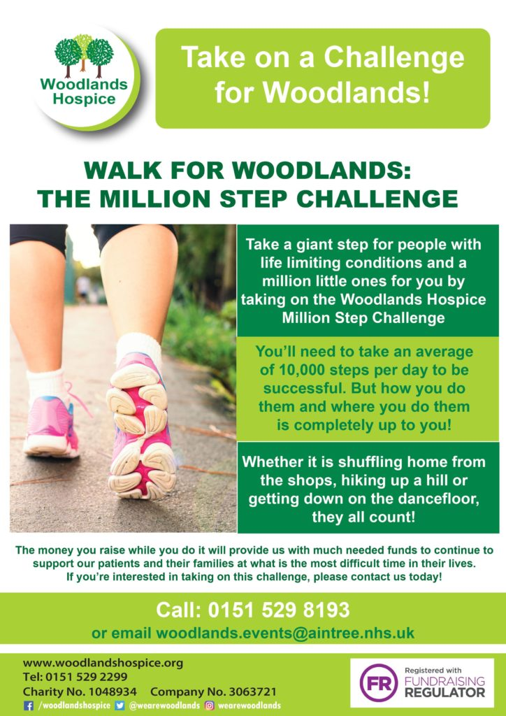 Woodlands million step challenge flyer