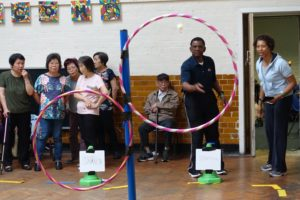 image of people playing with hula hoops